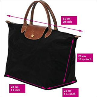 "How To Spot A Fake Longchamp ""Le Pliage"" tote  The Super Guide 2e59c8189b"