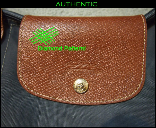 f74b99f61858 REAL Longchamp front leather Pattern · FAKE Longchamp front leather texture