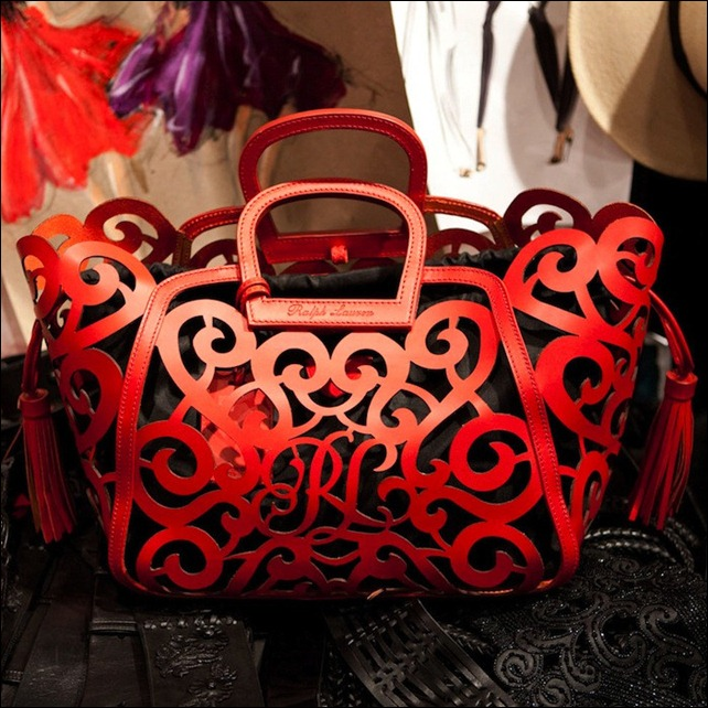 Ralph Lauren Red Swirl Spring 2013 bag