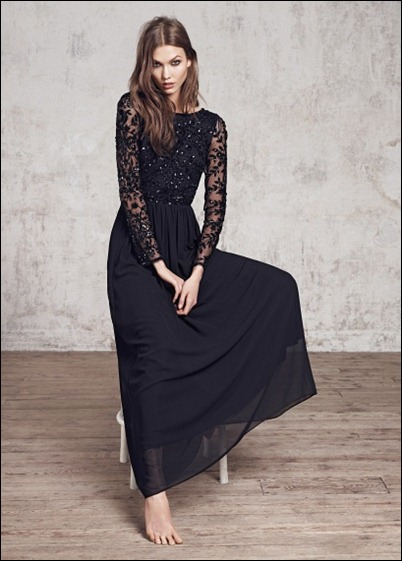 Sheer Embellished dress by mango